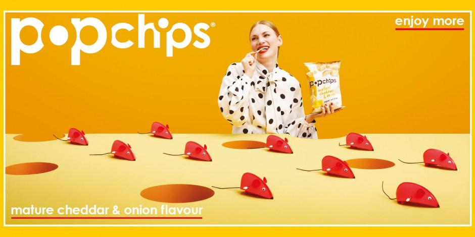 Popchips branding example