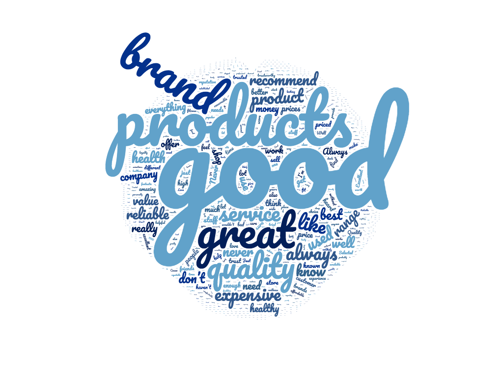health and wellness brand index wordcloud