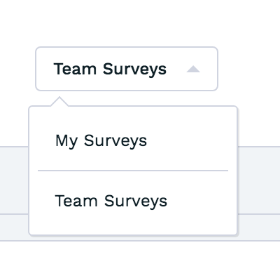 New: Team Surveys