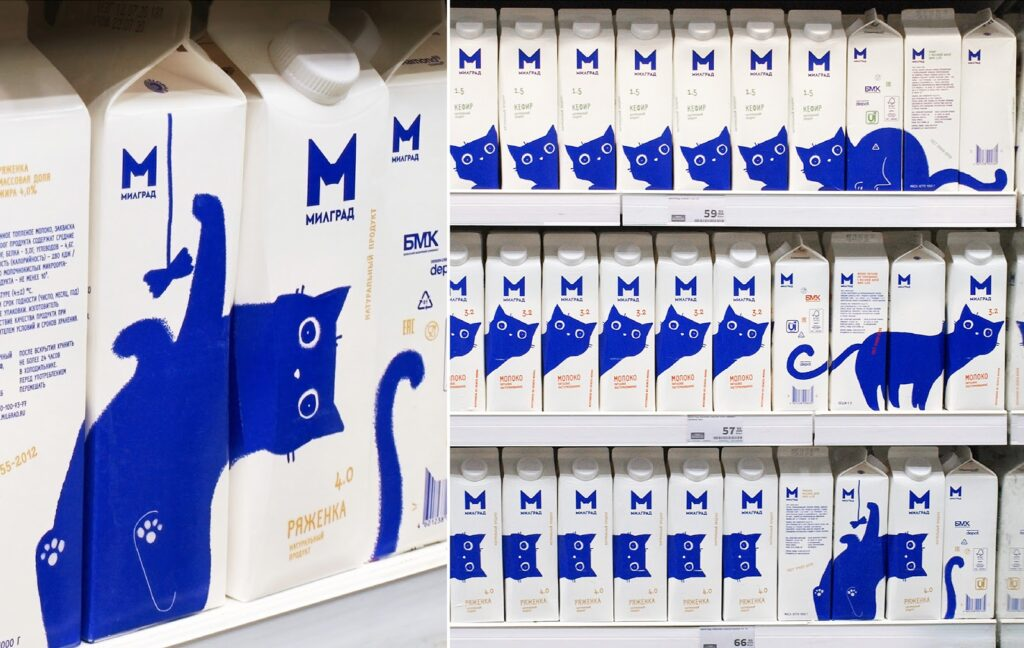 Creative packaging designs for milk