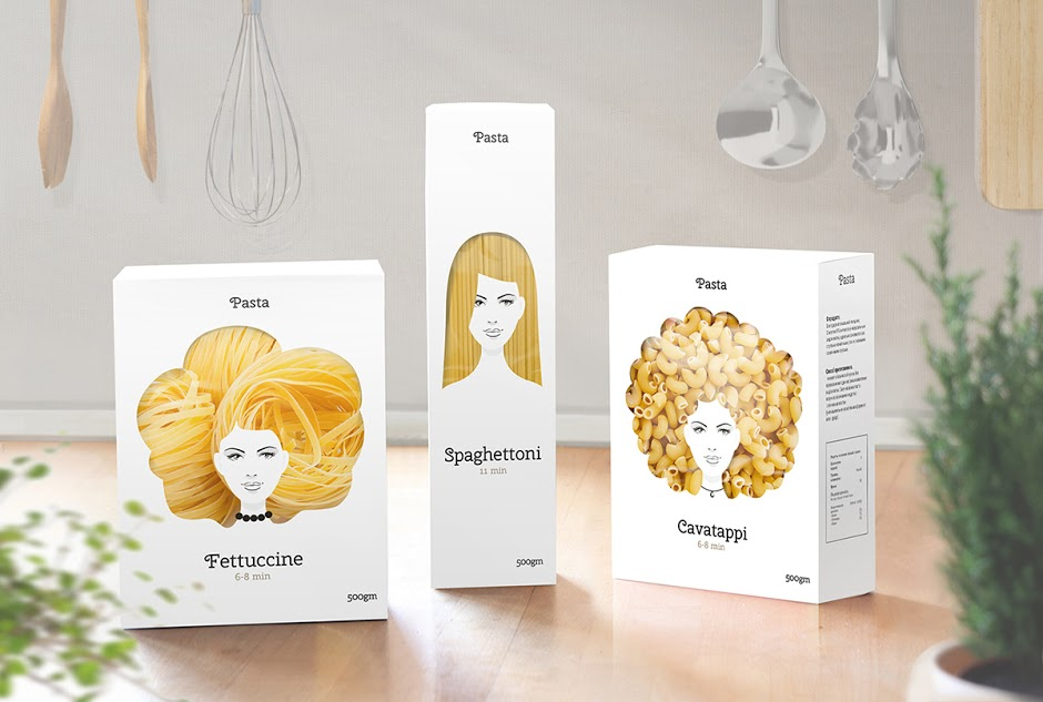 Creative packaging designs for pasta