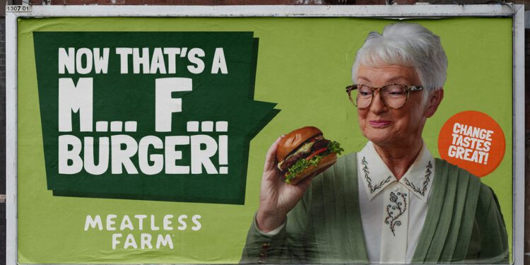 meatless farm MF advertising campaign